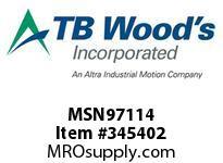 TBWOODS MSN97114 MSN-97X1 1/4 VAR SHEAVE