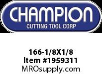 Champion 166-1/8X1/8 4 FL SE SOLID CARB END MILL