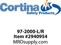 "Cortina 97-2000-L/R Engineer Grade Striped Sheeted Panel 24"" x 12"""