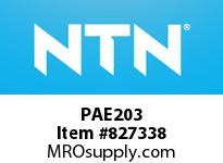 NTN PAE203 Bearing Units - Cast Housing