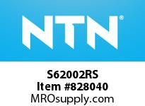 NTN S62002RS Extra Small/Small Ball Bearing