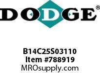 DODGE B14C25S03110 BB1483 250-CC 31.10 3-5/8 S SHFT