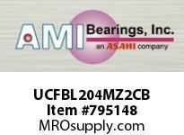 AMI UCFBL204MZ2CB 20MM ZINC WIDE SET SCREW BLACK 3-BO COV SINGLE ROW BALL BEARING