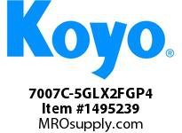 Koyo Bearing 7007C-5GLX2FGP4 PRECISION ANGULAR CONTACT BEARING