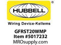 HBL_WDK GFRST20WMP 20A COM SELF TEST GFR WHITE MID SIZE PL
