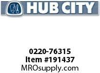 HUBCITY 0220-76315 SS262 30/1 A WR 1.250 SS WORM GEAR DRIVE