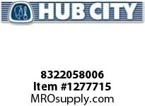 HubCity 8322058006 CUP BEARING (P2) LM48510 OR EQ