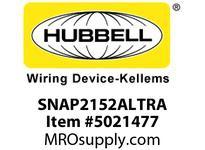 HBL_WDK SNAP2152ALTRA SNAPCONNECT DECO 15A/125V TR AL