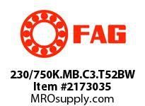 FAG 230/750K.MB.C3.T52BW DOUBLE ROW SPHERICAL ROLLER BEARING