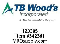 TBWOODS 12838S 12X8 3/8-E STR PULLEY