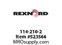 REXNORD 114-210-2 KU820-17T 3/4 UHMWP PLN 141956