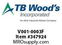 TBWOODS V001-0003F MODEL #1011-003F