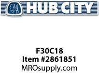 HUB CITY F30C18 300 FLANGE MOTOR 182TC CPLG Service Part