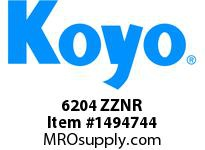 Koyo Bearing 6204 ZZNR SINGLE ROW BALL BEARING