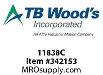 TBWOODS 11838C 11X8 3/8-E CR PULLEY