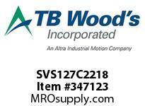 TBWOODS SVS127C2218 SVS-127-C2X2 1/8 ADJ SHEAVE