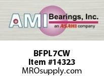 AMI BFPL7CW 35MM NARROW SET SCREW WHITE 4-BOLT PLASTIC HSG W/O.C & BS