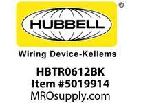 HBL_WDK HBTR0612BK WBPREFORM RADI 90 6^Hx12^W BLACK