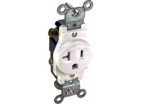 Orbit SR20-250-I 20A 250V SINGLE RECEPTACLE IVORY