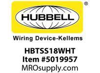 HBL_WDK HBTSS18WHT WBACCSSHLFSPT18^TRAYWHITE