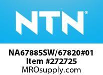 NTN NA67885SW/67820#01 LARGE SIZE TAPERED ROLLER BRG
