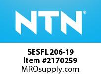 NTN SESFL206-19 Stainless-Oval flanged unit