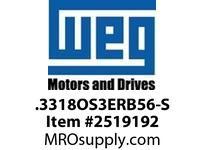 WEG .3318OS3ERB56-S 1/3HP 1800 3 60 208-230/460 Nema 56 ODP
