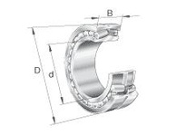 FAG 24076B.MB DOUBLE ROW SPHERICAL ROLLER BEARING