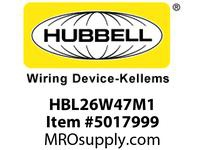 HBL_WDK HBL26W47M1 WT PLUG L5-20P 20A/125V IN BOX