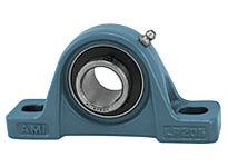 AMI UCLP207 35MM WIDE SET SCREW LOW BASE PILLOW SHAFT HEIGHT-SETSCREW LOCK