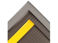 NoTrax 410S3275BY 410 Airug 3/8^ 27X5 Black/Yellow Airug showcases an improved embossed top surface that enhances the mat s slip resistance while providing increased worker fatigue relief. The PVC closed cell foam construction relieves leg