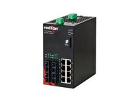NT24K-12GX4-SC-POE 12-Port Gigabit Managed POE+ Industrial Ethernet Switch (8 10/100/1000BaseT 4 1000BaseSX mul