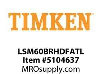 TIMKEN LSM60BRHDFATL Split CRB Housed Unit Assembly