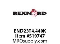 REXNORD END23T4.440K 720-23T 4-7/16 W/KW DRIVE 135500