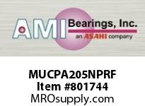 AMI MUCPA205NPRF 25MM STAINLESS SET SCREW RF NICKEL SINGLE ROW BALL BEARING