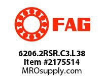 FAG 6206.2RSR.C3.L38 RADIAL DEEP GROOVE BALL BEARINGS