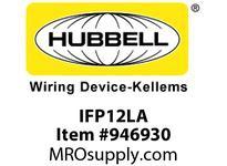 HBL-WDK IFP12LA PLATE WALLFLUSH1-G2PORTLA