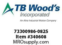 TBWOODS 73300986-0825 73300986-0825 13S M-SF CPLG