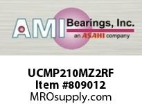 AMI UCMP210MZ2RF 50MM ZINC SET SCREW RF STAINLESS PI SINGLE ROW BALL BEARING