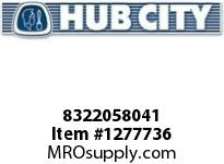 HubCity 8322058041 CUP BEARING HM803110 OR EQ