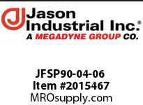 Jason JFSP90-04-06 O-RING FLAT SEAT/90* ELBOW
