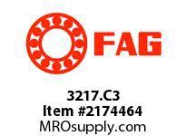 FAG 3217.C3 DOUBLE ROW ANGULAR CONTACT BALL BRE