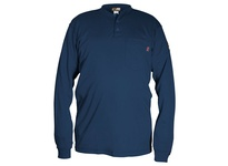 MCR H1NX5 FR Long Sleeve Henley Shirt Navy