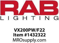 RAB VX200PW/F22 VAPORPROOF 22W 120V CEILING 4 BOX 1/2 WHITE PERMA GLOBE