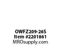 PTI OWFZ209-26S 2-BOLT PILOTED FLANGE BEARING-1-5/8 OWFZ 200 SILVER SERIES - NORMAL DUT