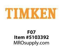 TIMKEN F07 Split CRB Housed Unit Component