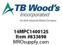TBWOODS 14MPC1400125 14MPC-1400-125 QTPCII BELT