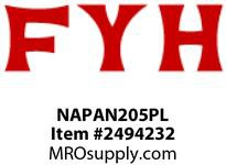 FYH NAPAN205PL 25MM TAPPED-BASE PB W/ PLASTIC HSG
