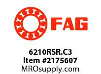 FAG 6210RSR.C3 RADIAL DEEP GROOVE BALL BEARINGS