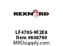 REXNORD LF4705-9F2E8 LF4705-9 F2 T8P NOTCH SP CONTACT PLANT FOR ACCURATE DESCRIPT